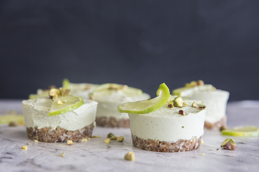 Coconut Lime Mini Cheesecakes