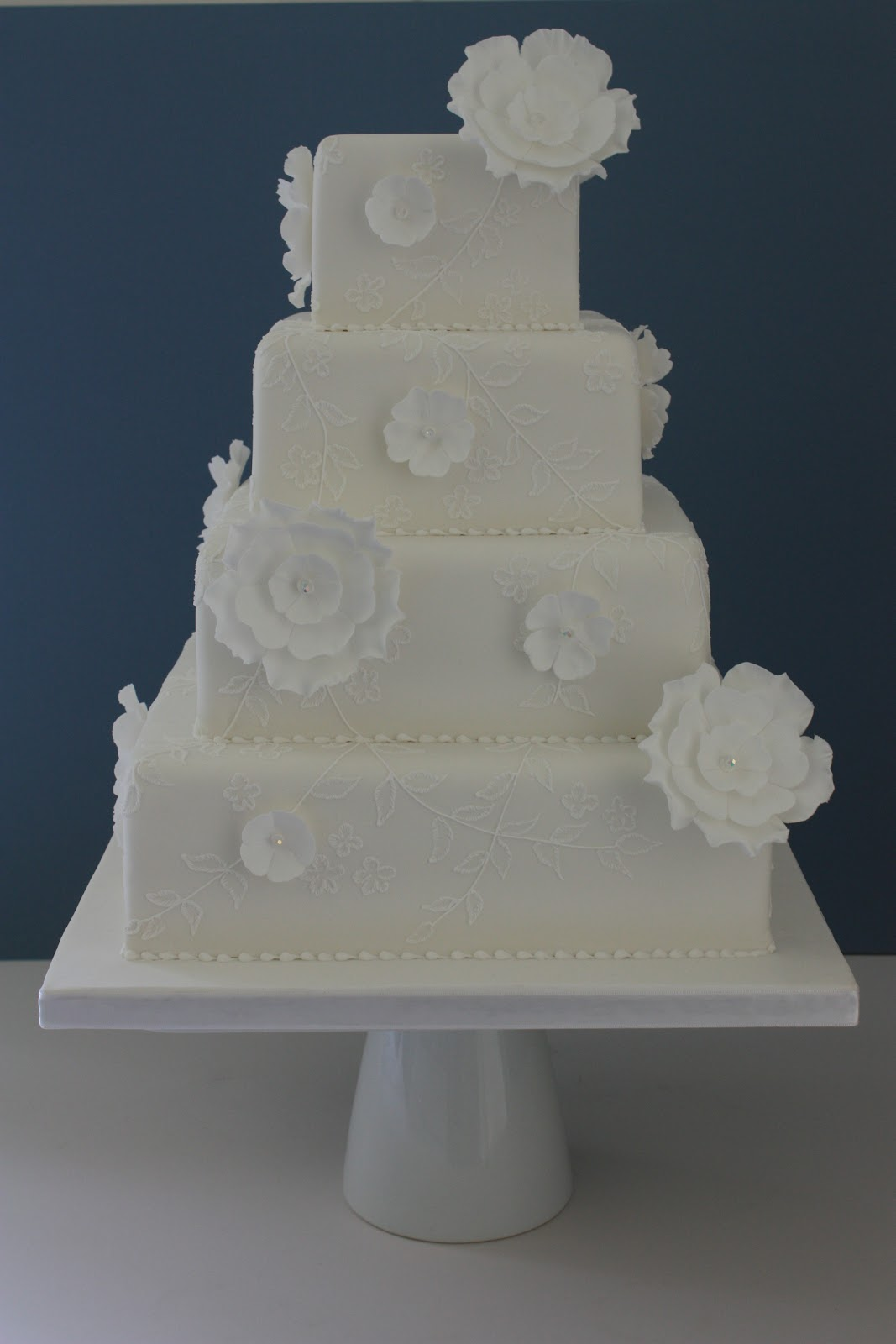 Crystal Wedding Cake Flowers