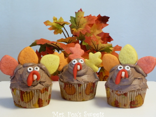 Cupcakes Thanksgiving Turkey Treats