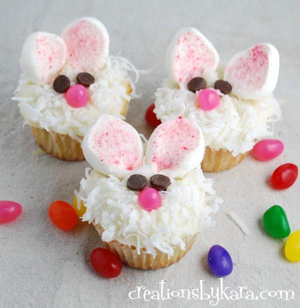 Cute Easter Bunny Cupcakes Recipe
