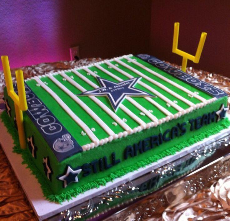 Dallas Cowboys Football Field Cake