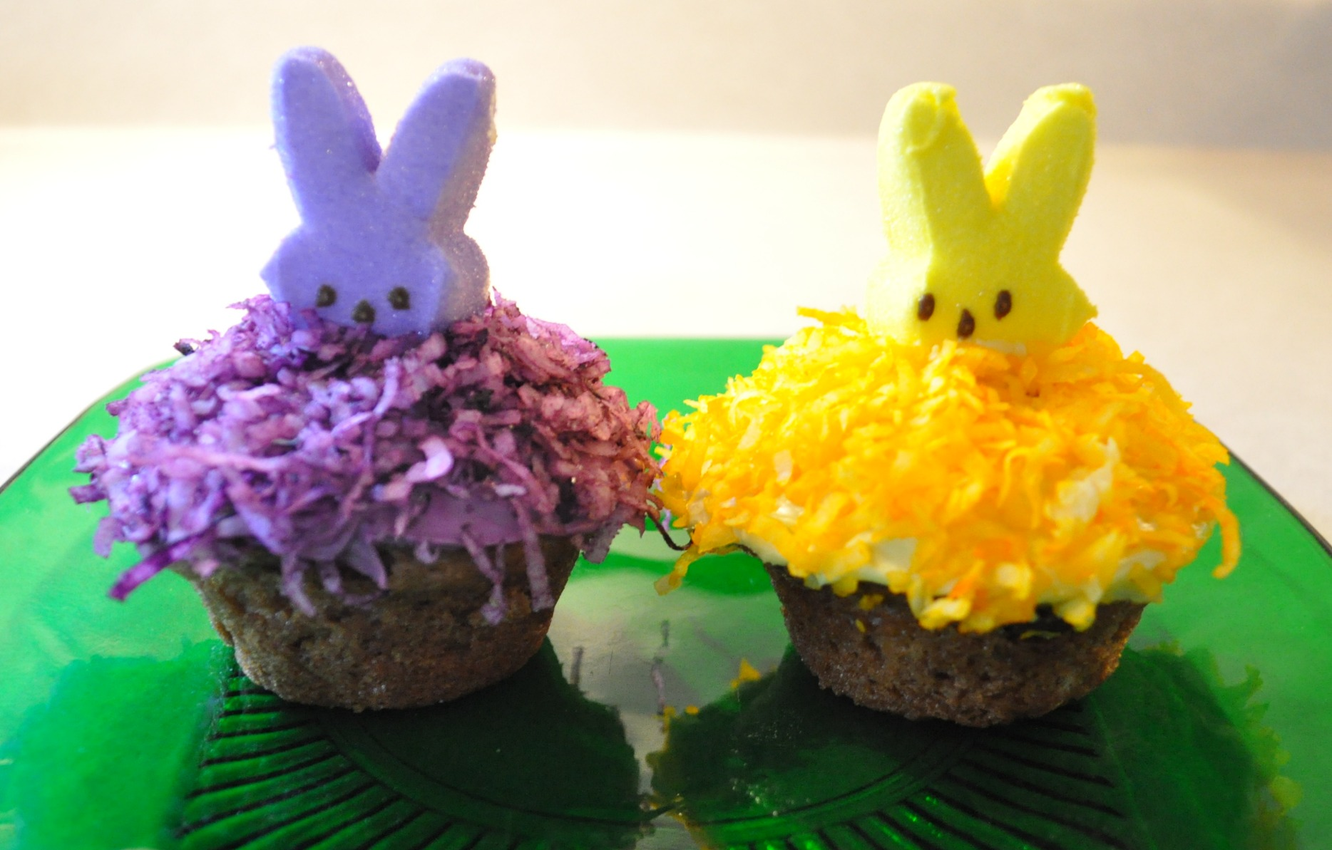 Easter Bunny Cupcakes with Peeps