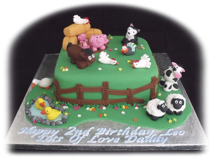 Farm Animal Cake Decorations