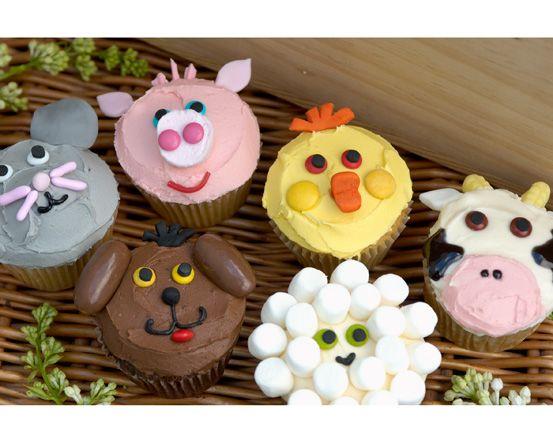Farm Animal Cupcakes Easy