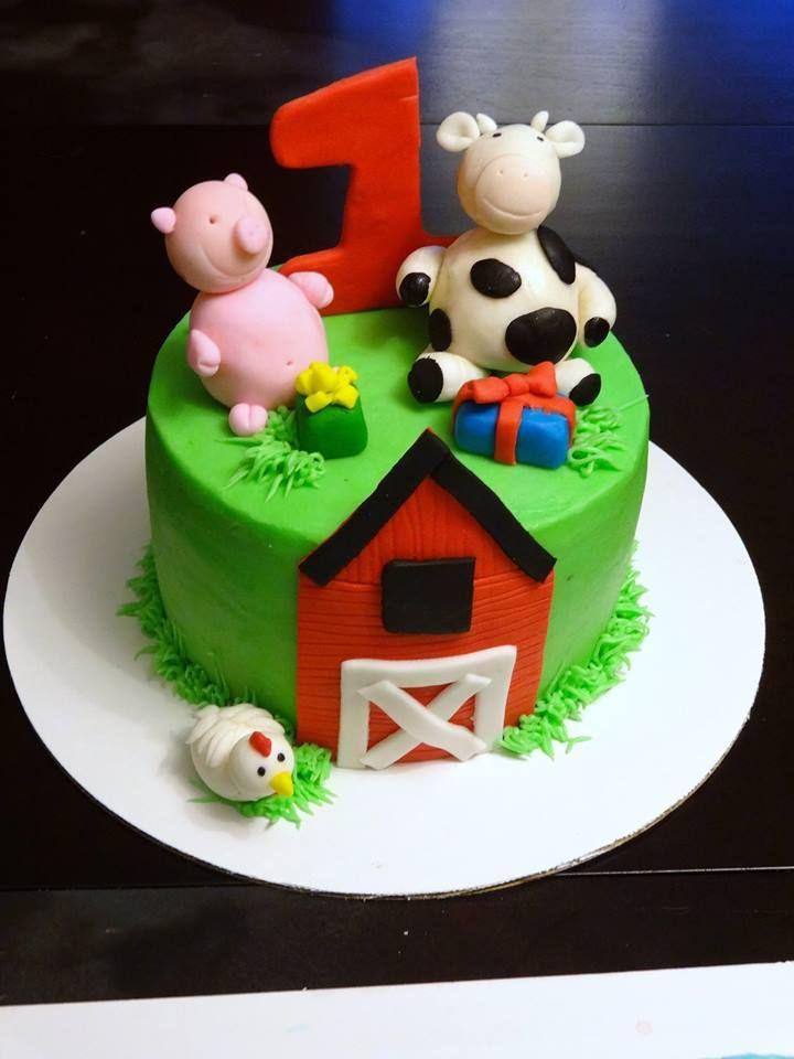 Farm Animal Smash Cake