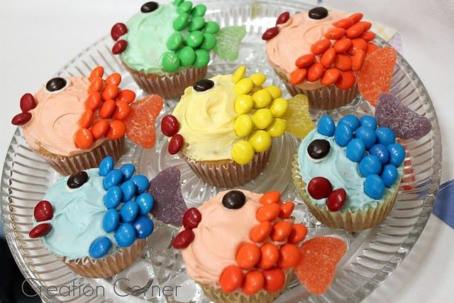 Fish Cupcakes for Kids