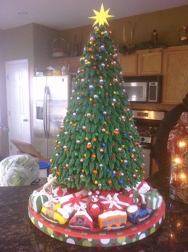 Food Network Christmas Tree Cake