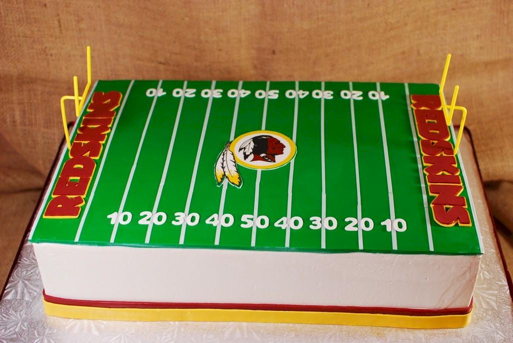 Football Field Birthday Cake