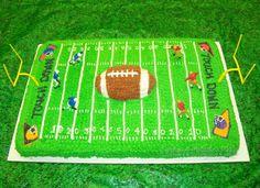 Football Field Cake Designs