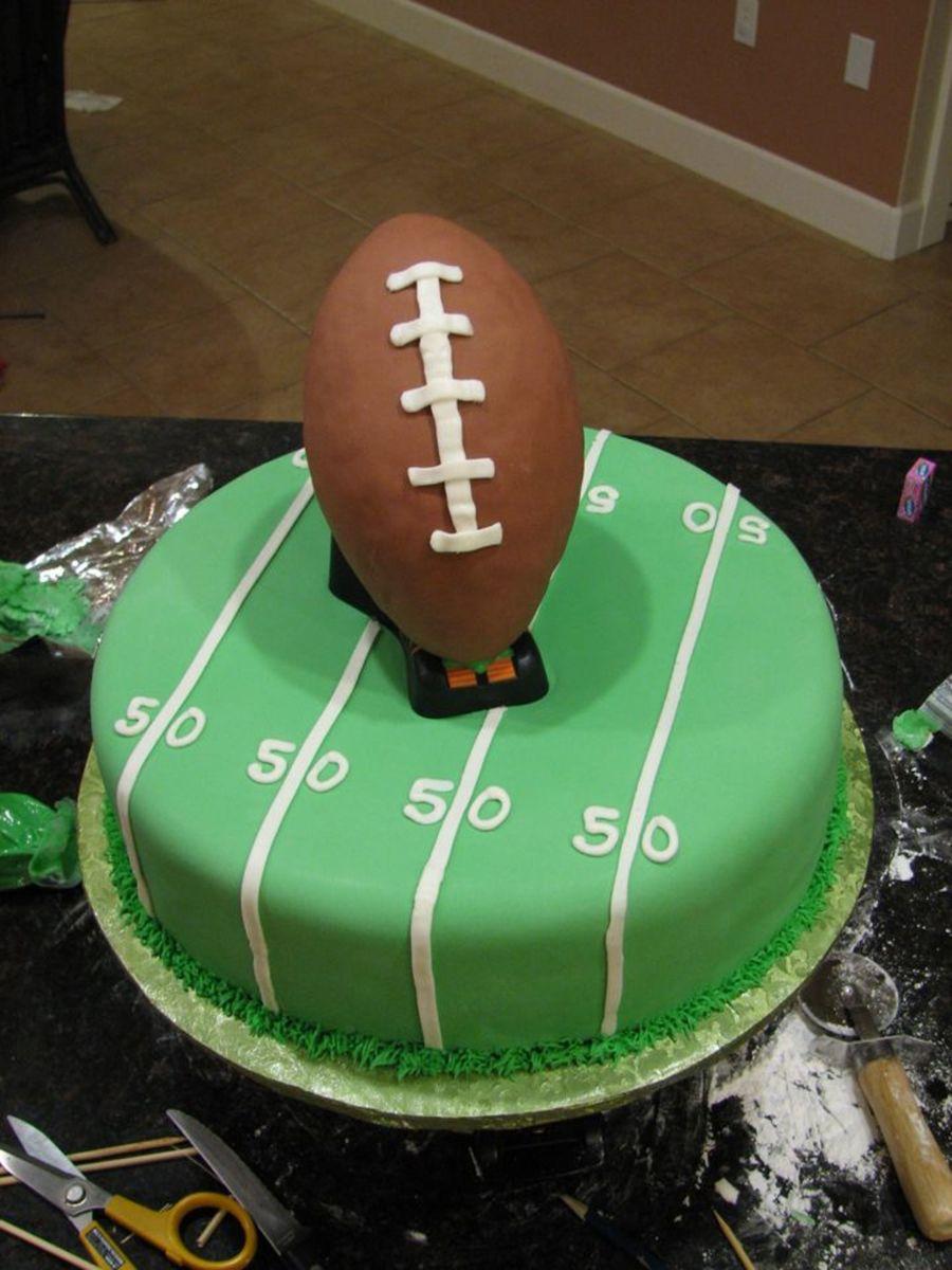 Football Super Bowl Birthday Cake