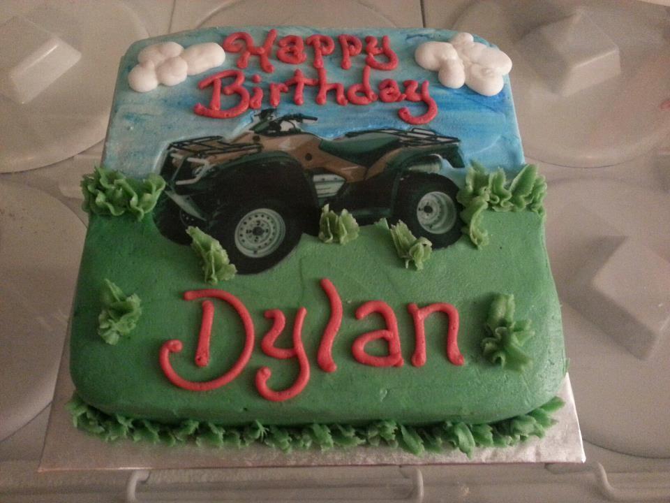 Four Wheeler Birthday Cake
