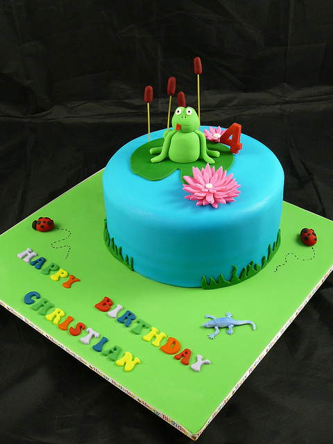 Frog On Lily Pad Cake