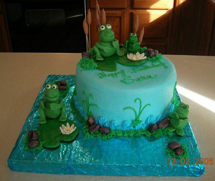 Frog Pond Birthday Cake