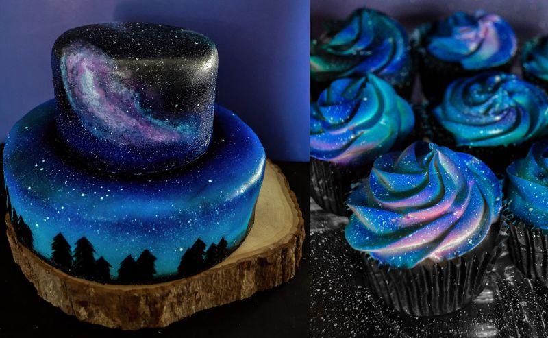 Galaxy Themed Birthday Cake