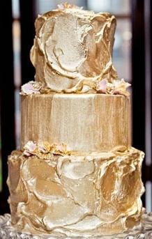 Gold Cream Wedding Cake Frosting