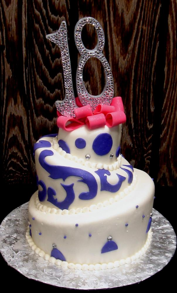 Graduation Cake with Bling