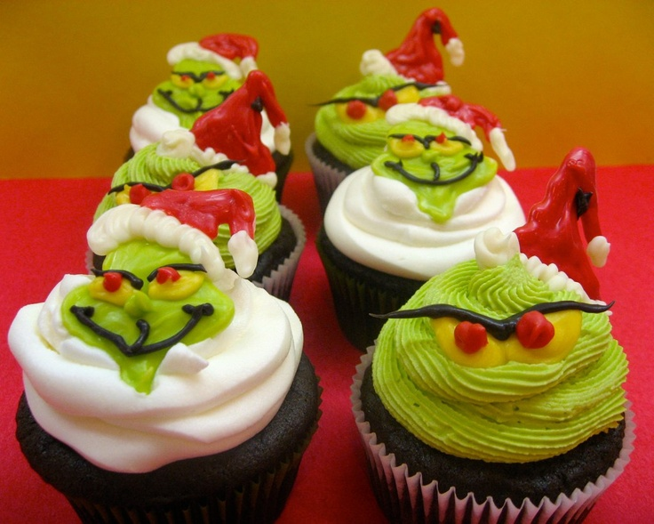 Grinch Christmas Cupcake Ideas
