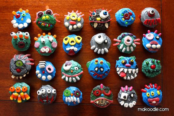 Halloween Monster Cupcake Ideas