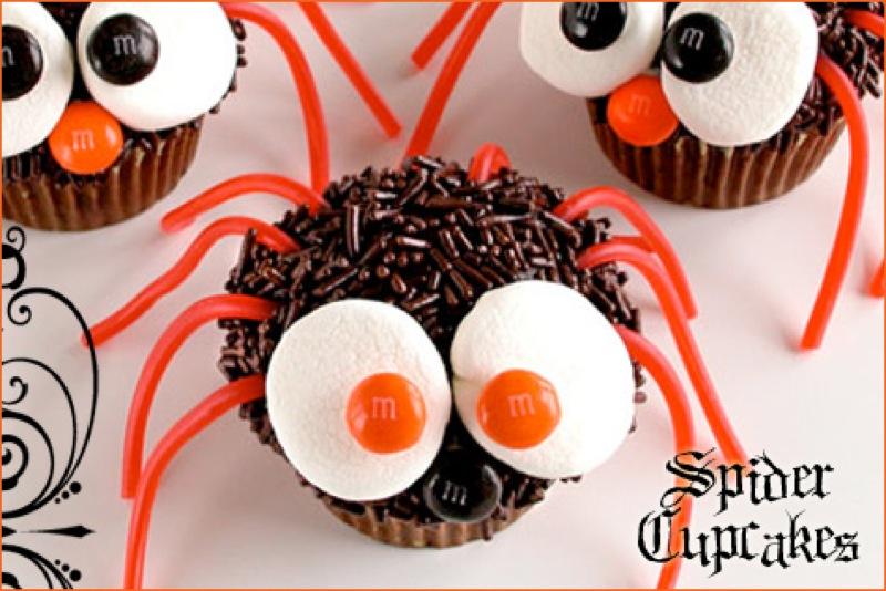 8 Photos of Pinterest Halloween Spider Cupcakes