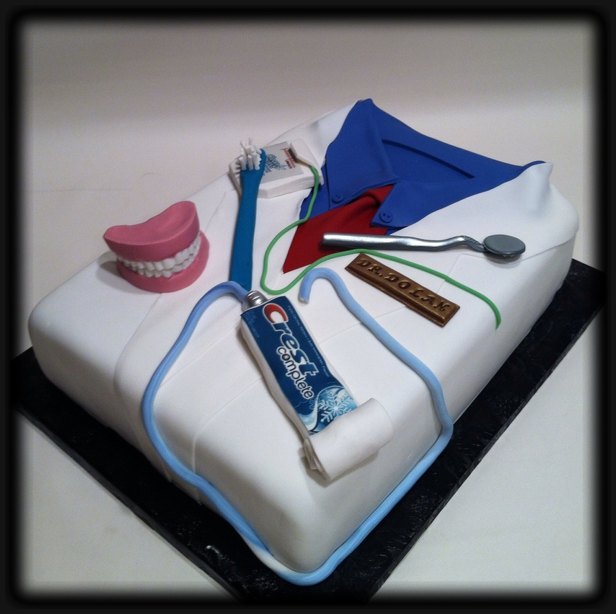 Happy Birthday Dentist Cake