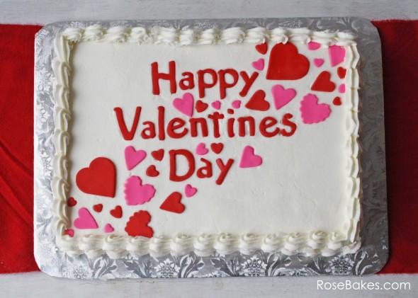 Happy Valentine's Day Sheet Cake