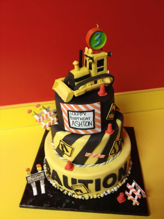 Heavy Equipment Birthday Cake