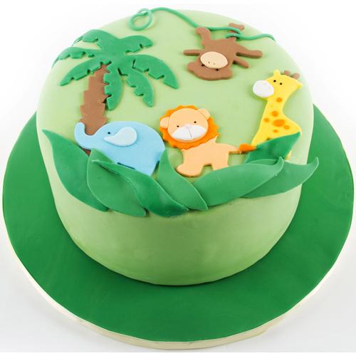 Jungle Animal Cake Designs