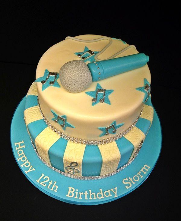 Karaoke Themed Birthday Cake