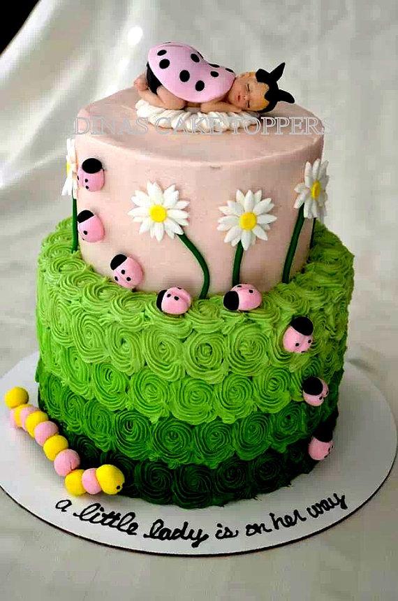 Ladybug Baby Shower Cake Topper