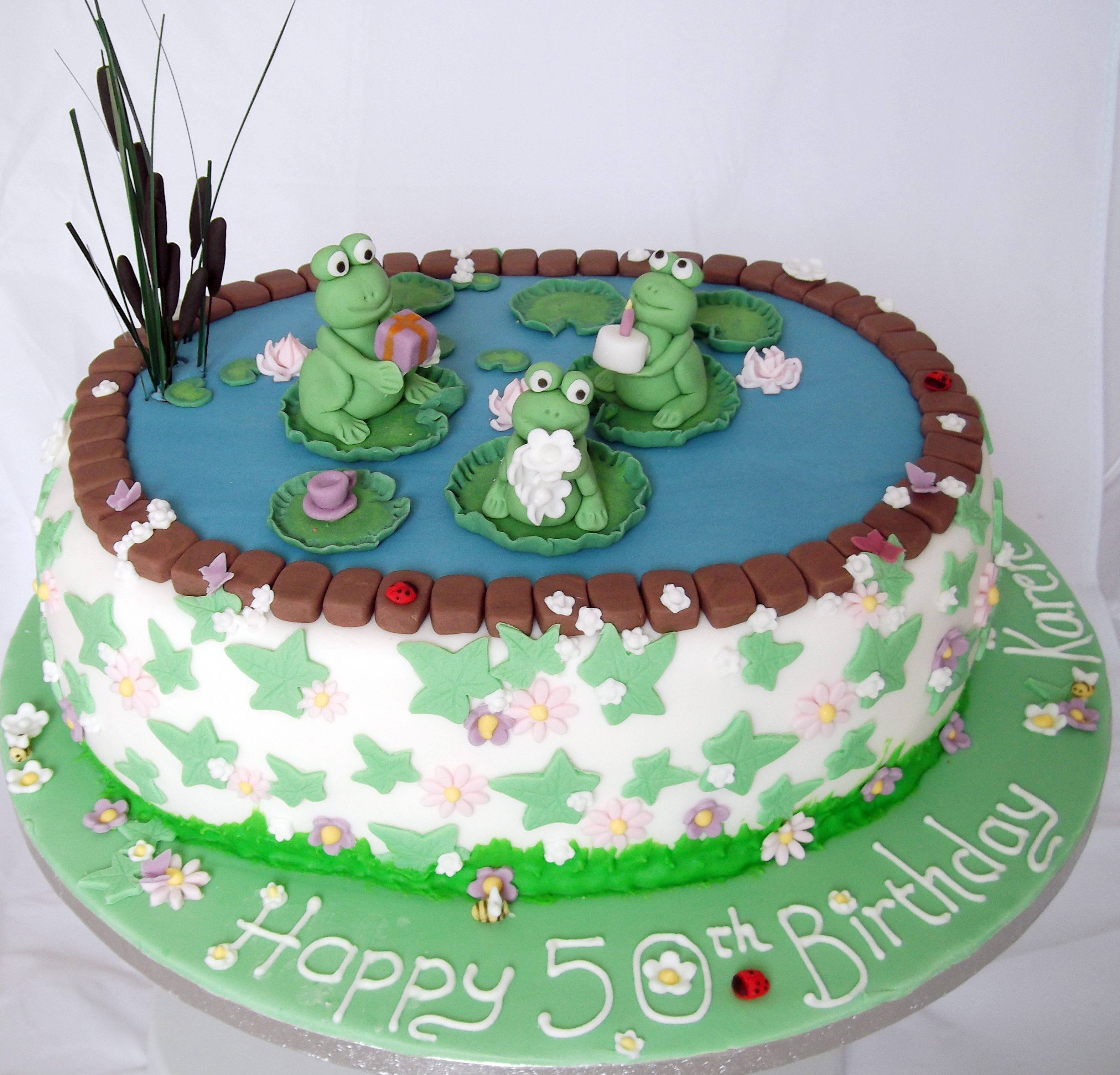 Lily Pad Frog Pond Cakes
