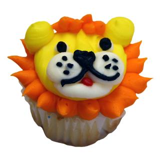 Lion Face Cupcake Cake