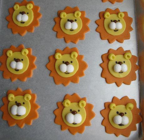 Lion Fondant Cupcake Topper