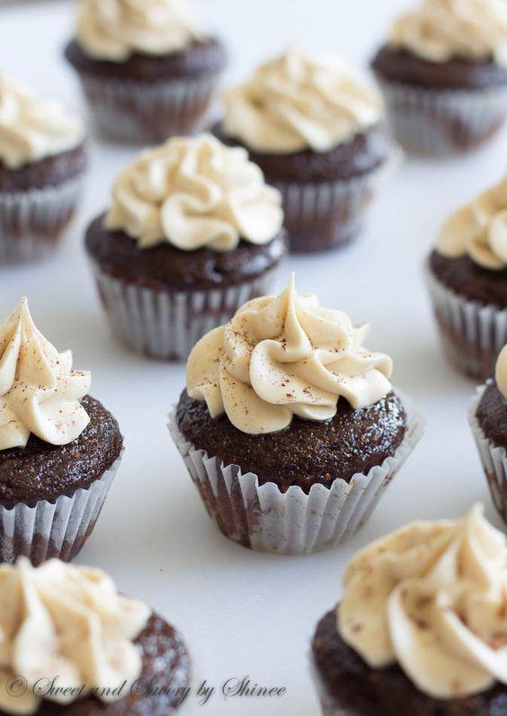 Mini Kahlua Cupcakes