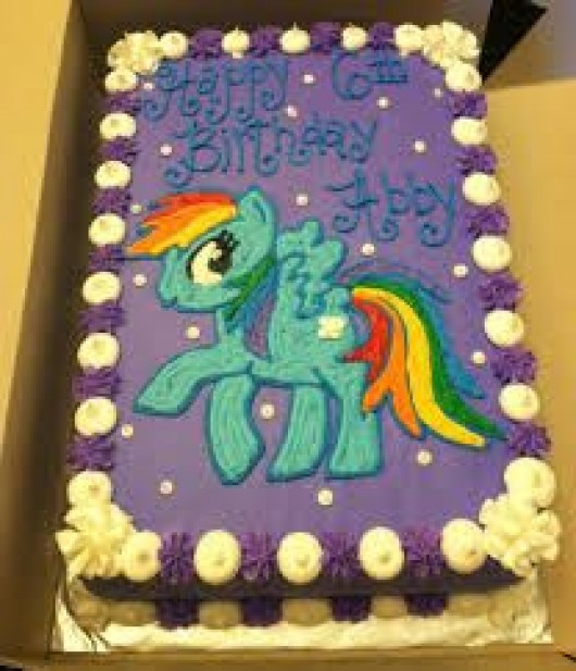 My Little Pony Birthday Sheet Cake