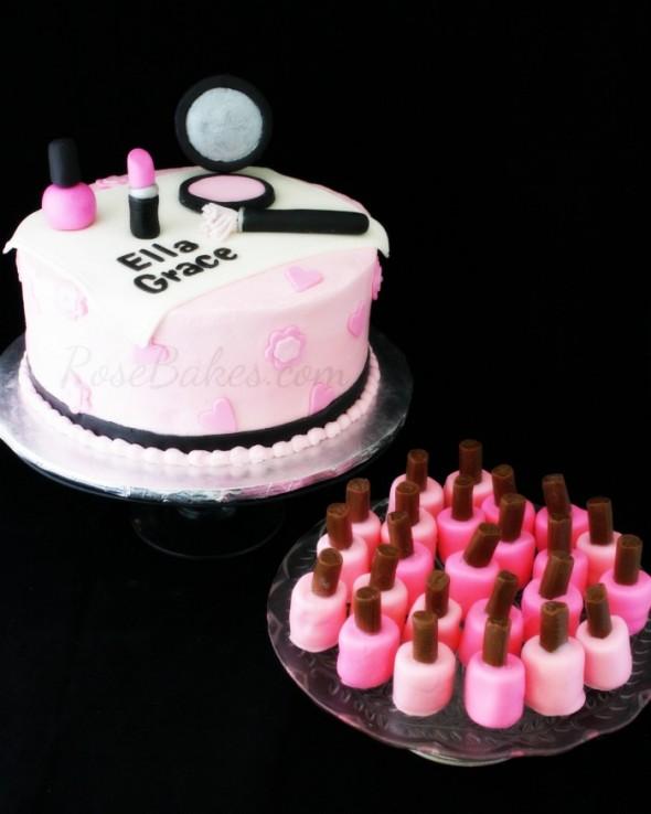 Magnificent 10 Birthday Cakes With Nail Polish And Makeup Photo Nail Polish Funny Birthday Cards Online Inifodamsfinfo