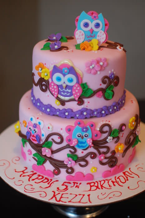 9 Photos of Girly Birthday Cakes Without Fondant