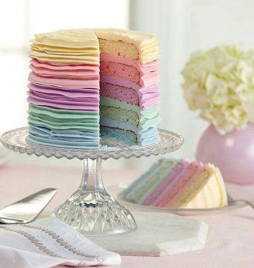 Pastel Color Cake