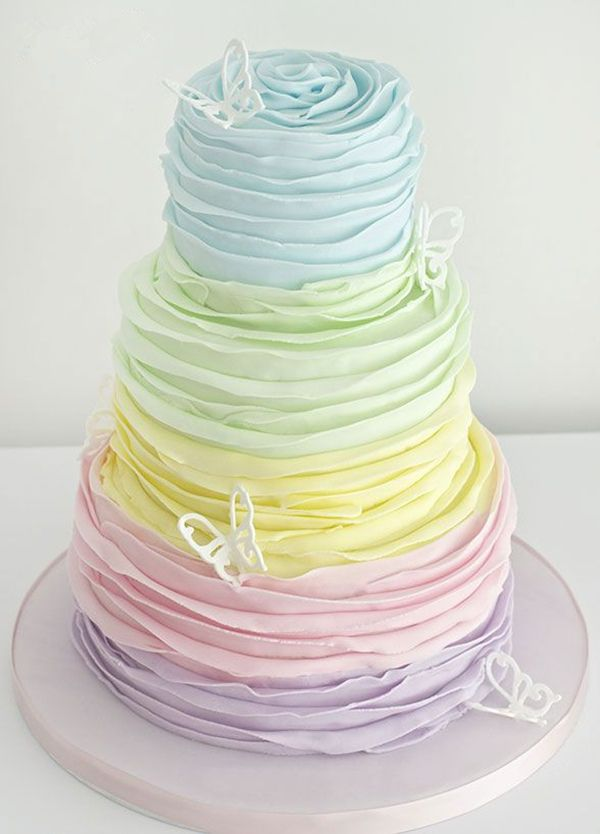 12 Photos of Pastel Color Themed Cakes