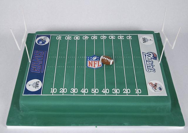 Patriots Football Field Cake