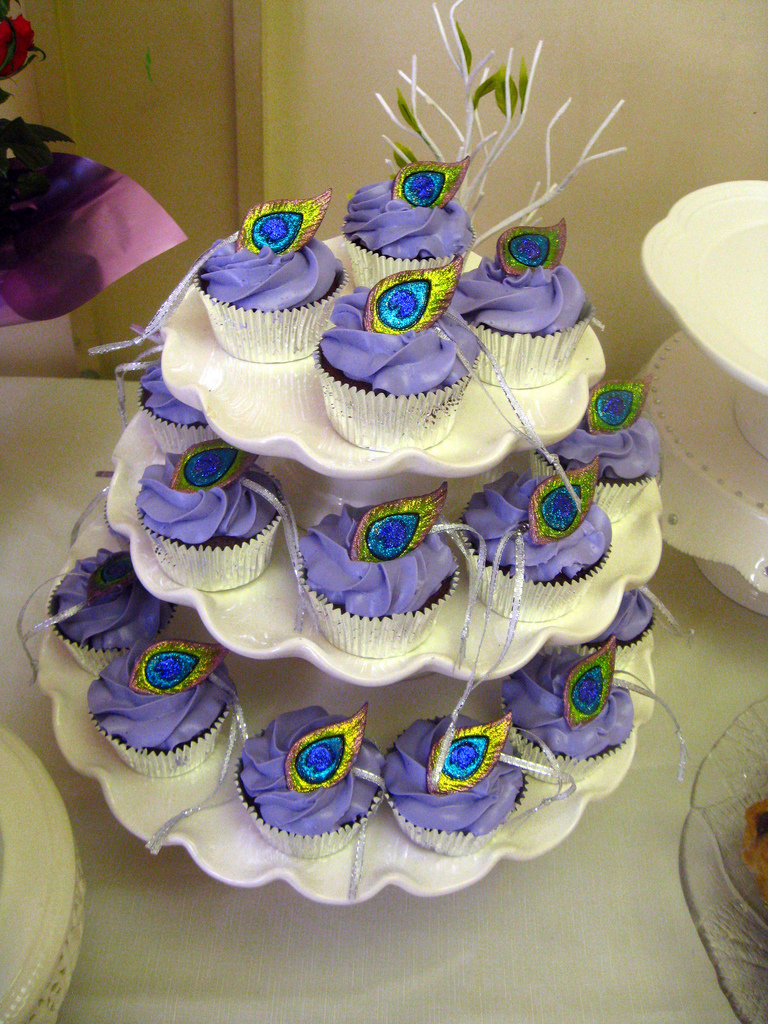 Peacock Themed Bridal Shower Cakes