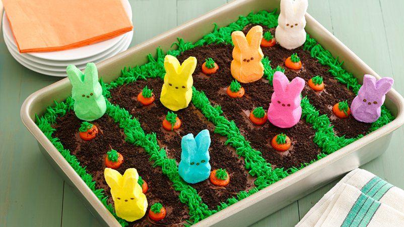 Peeps Easter Cake Garden Bunny