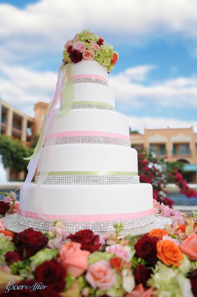 Pink Bling Wedding Cake