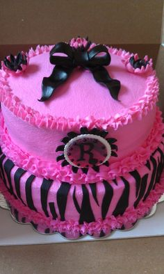 Pink Zebra Birthday Cake Walmart