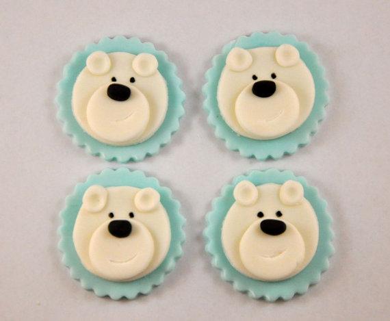 Polar Bear Cupcake Toppers Edible