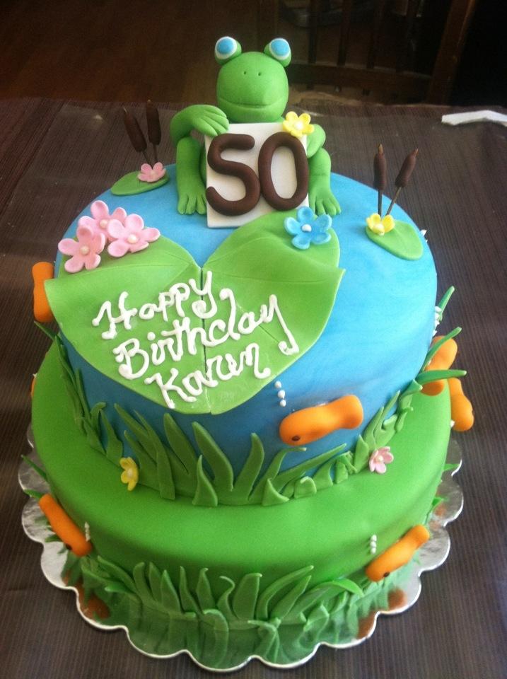 Pond Birthday Cake