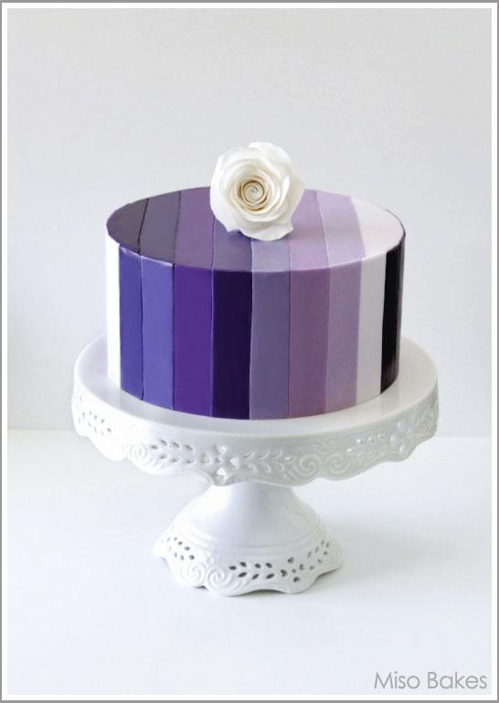 Purple Ombre Cake Fondant