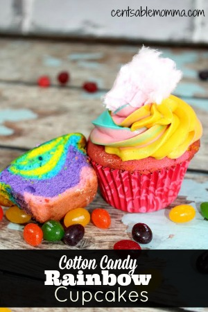 Rainbow Candy Cupcakes