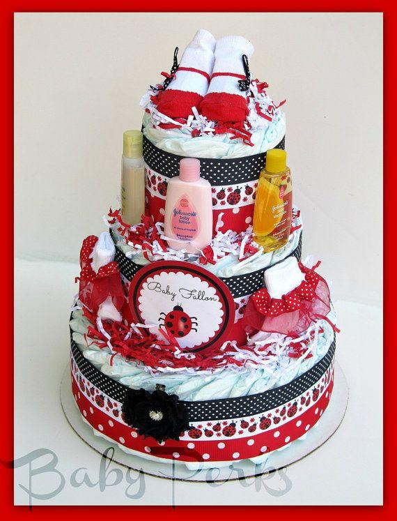 Red Ladybug Baby Shower Cakes