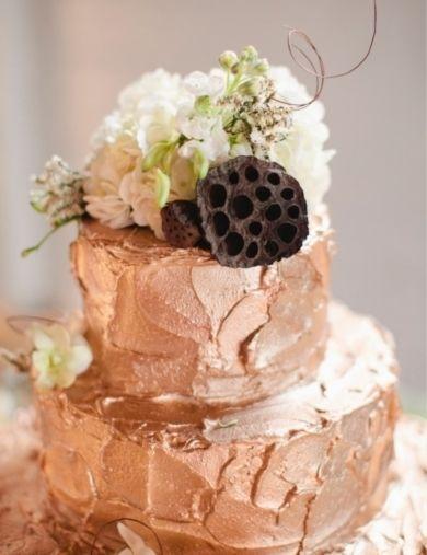 Rose Gold Wedding Shower Cake