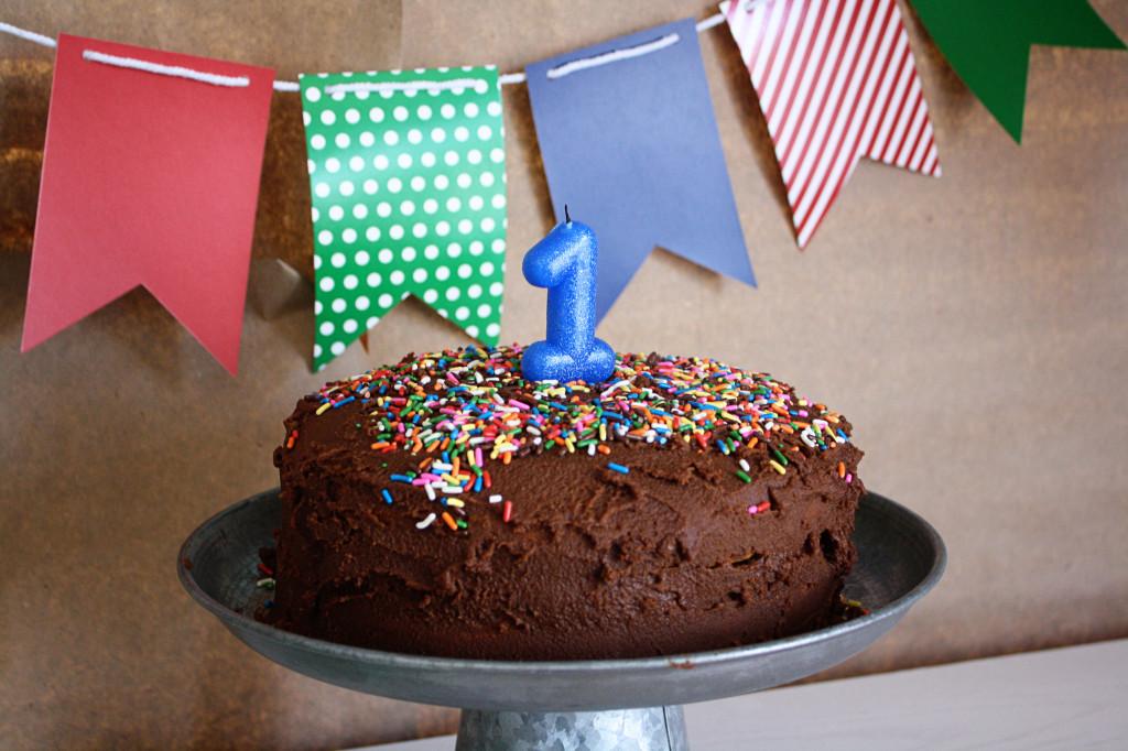 Simple Homemade First Birthday Cake